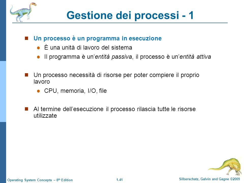 Gestione dei processi - 1