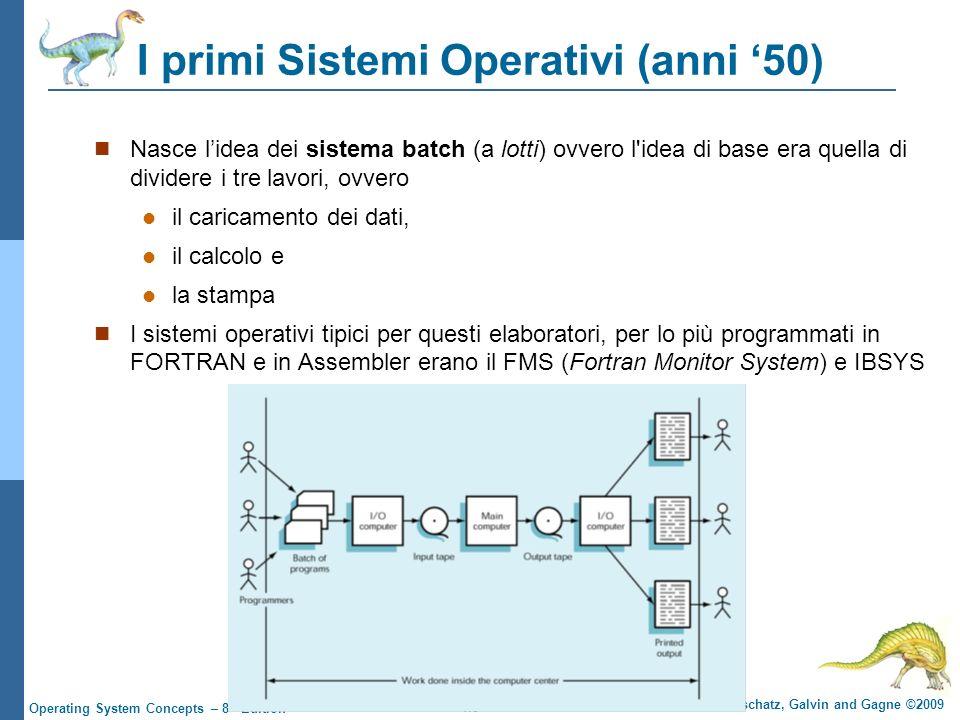 I primi Sistemi Operativi (anni '50)