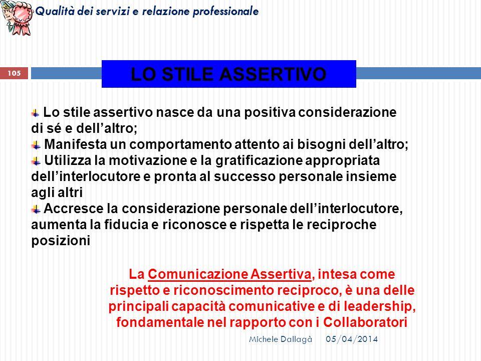 LO STILE ASSERTIVO Lo stile assertivo nasce da una positiva considerazione di sé e dell'altro;