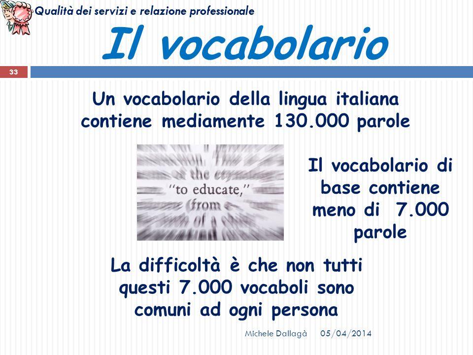 Il vocabolario di base contiene meno di 7.000 parole
