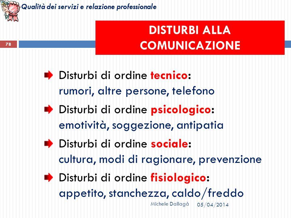 DISTURBI ALLA COMUNICAZIONE