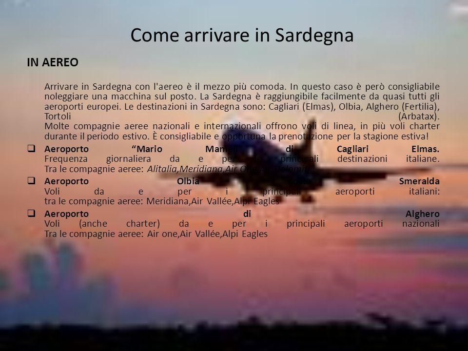 Come arrivare in Sardegna