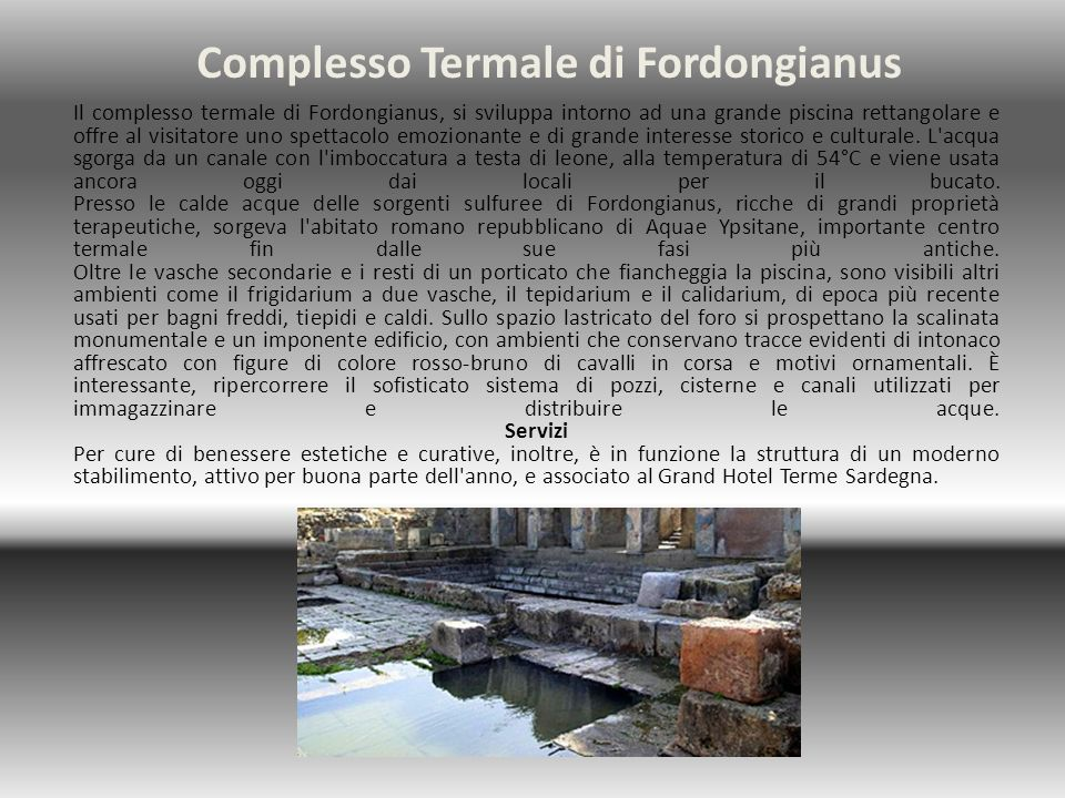 Complesso Termale di Fordongianus