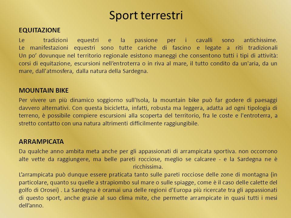 Sport terrestri EQUITAZIONE MOUNTAIN BIKE ARRAMPICATA
