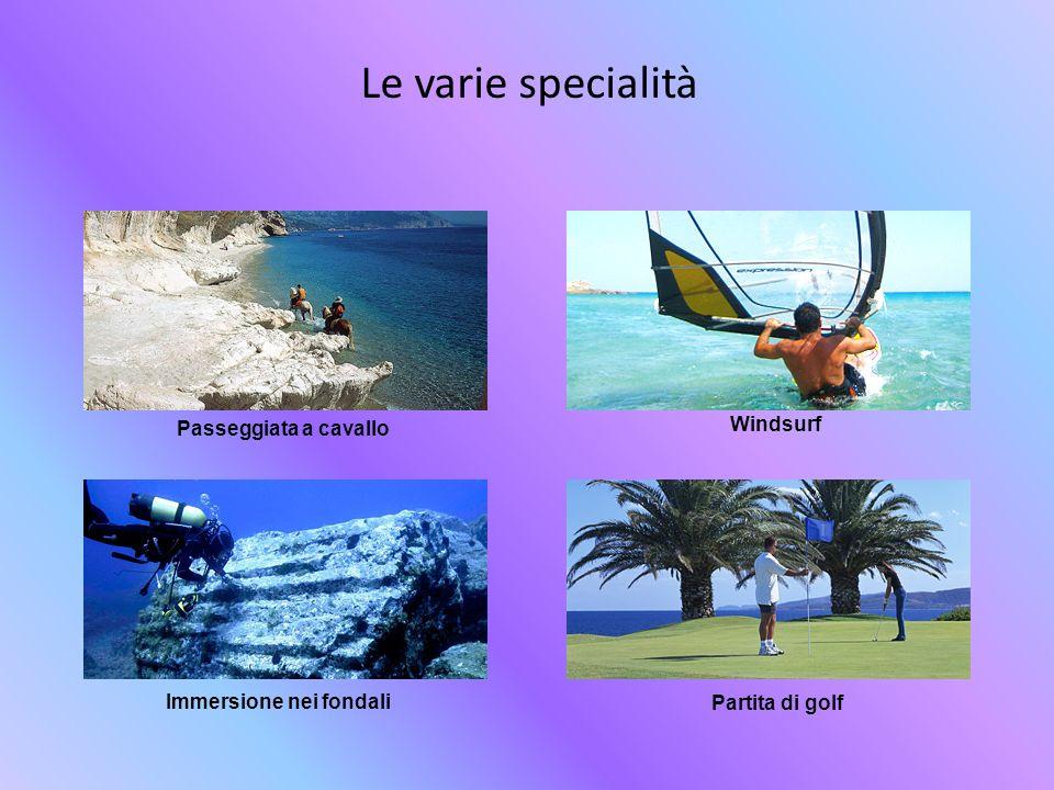 Le varie specialità Windsurf Passeggiata a cavallo