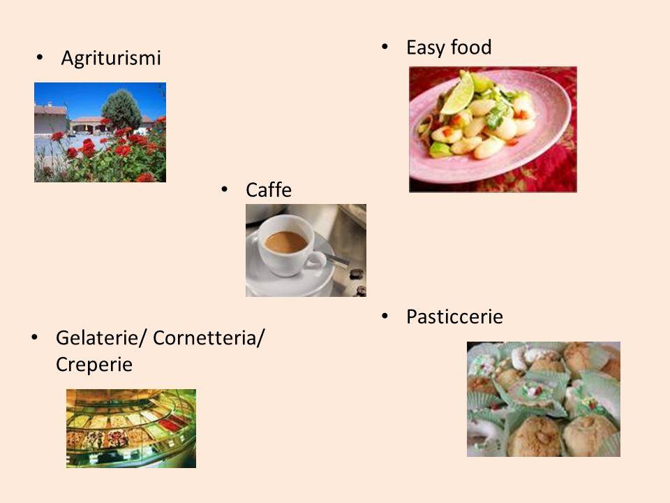 Easy food Agriturismi Caffe Pasticcerie Gelaterie/ Cornetteria/ Creperie