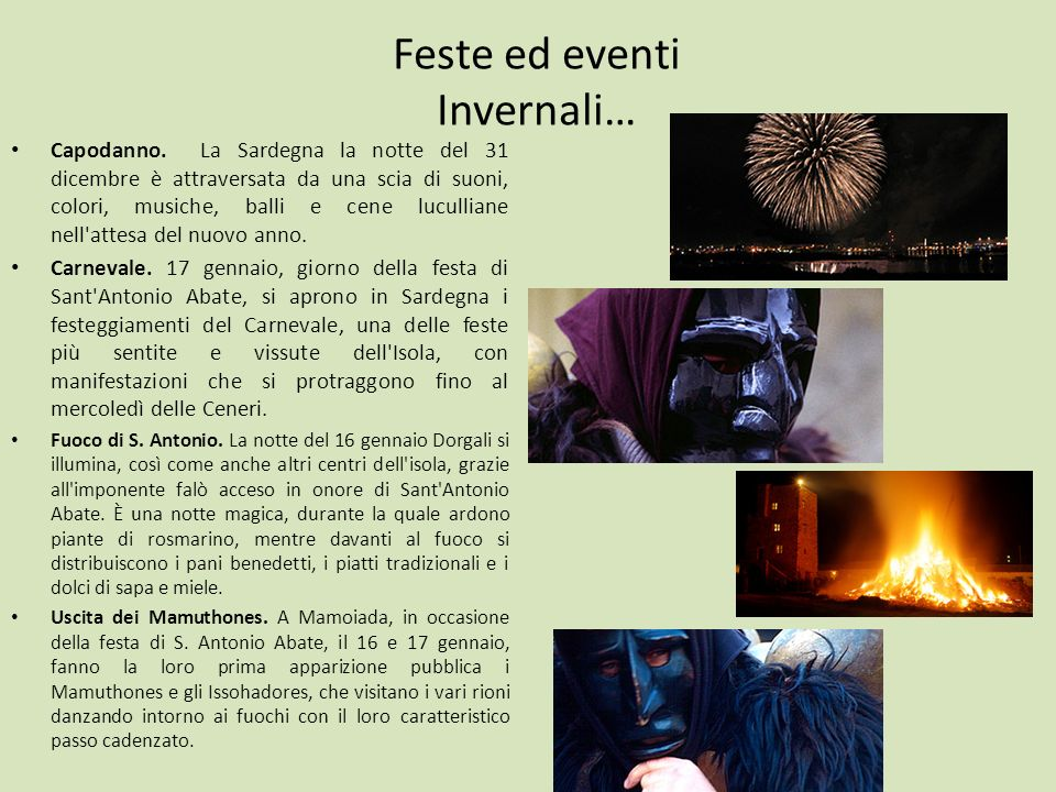 Feste ed eventi Invernali…