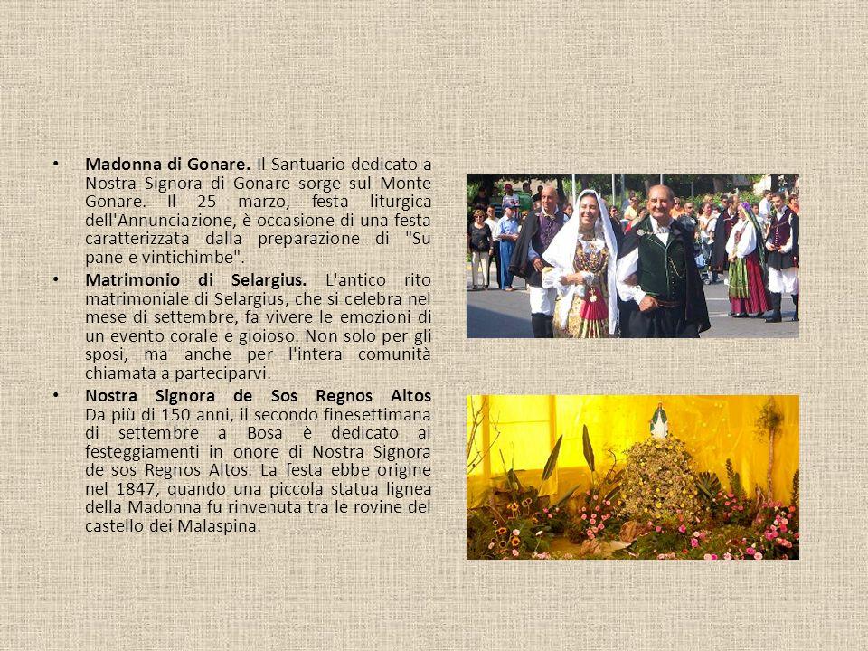 Madonna di Gonare. Il Santuario dedicato a Nostra Signora di Gonare sorge sul Monte Gonare. Il 25 marzo, festa liturgica dell Annunciazione, è occasione di una festa caratterizzata dalla preparazione di Su pane e vintichimbe .