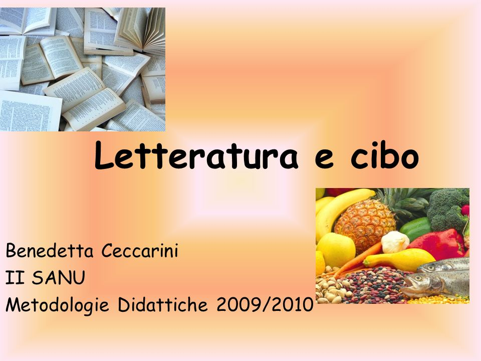 Benedetta Ceccarini II SANU Metodologie Didattiche 2009/2010