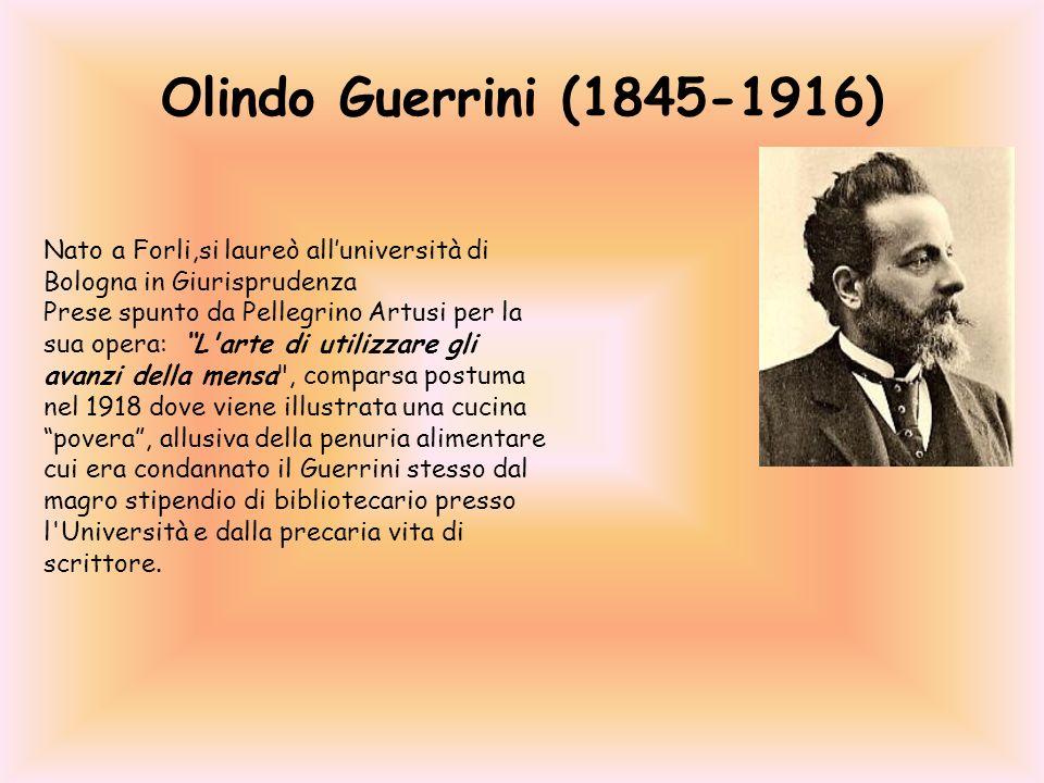 Olindo Guerrini (1845-1916) Nato a Forli,si laureò all'università di Bologna in Giurisprudenza.