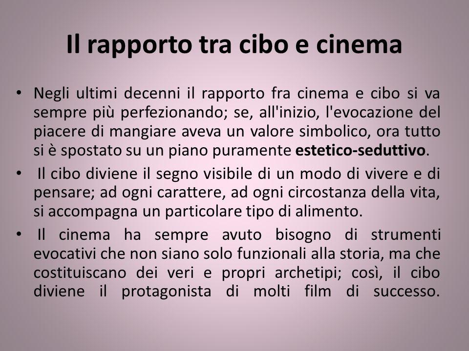 Il rapporto tra cibo e cinema