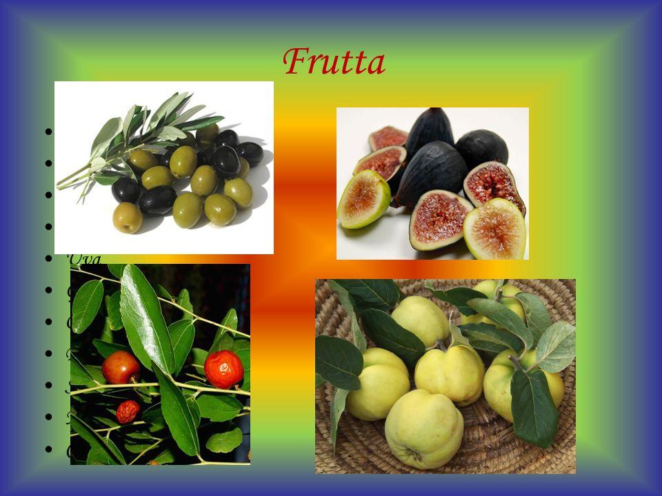 Frutta Mele Arance Bergamotto Carrube Fichi Uva Giuggiole Olive Pere