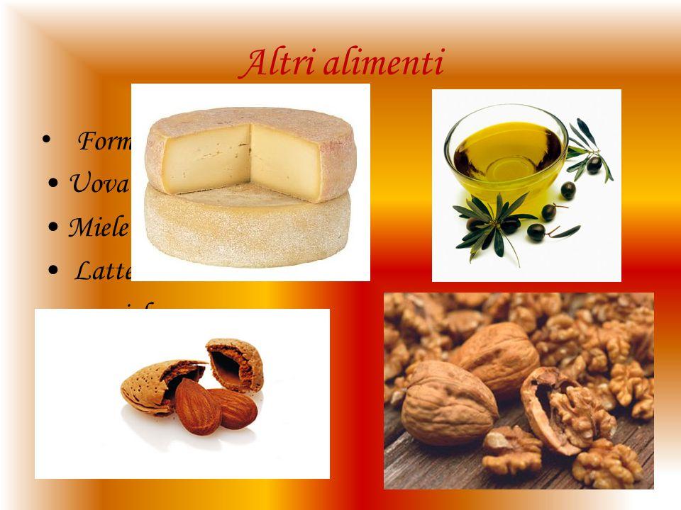 Altri alimenti Formaggio Uova Miele Latte nocciole Olio d oliva