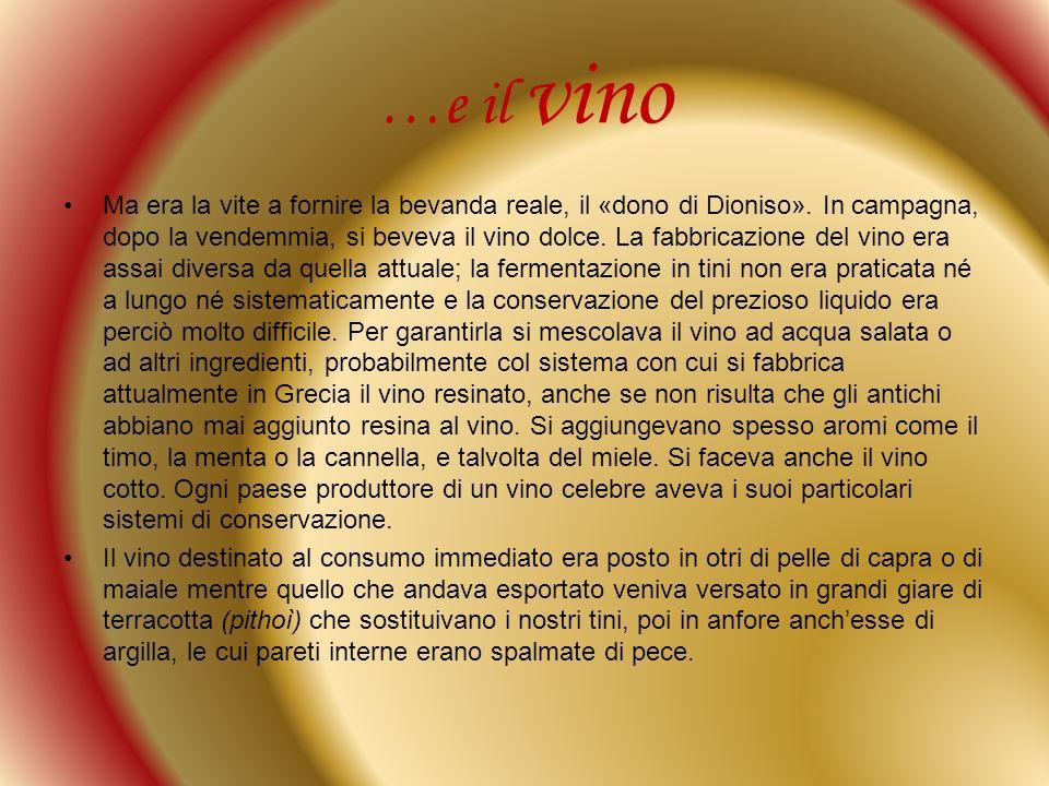 …e il vino