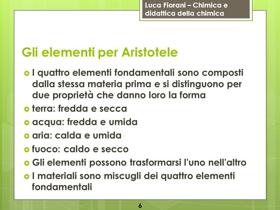 Gli elementi per Aristotele