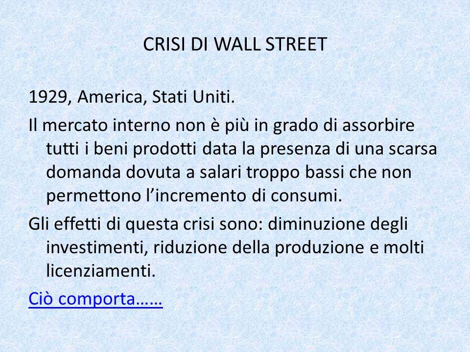 CRISI DI WALL STREET