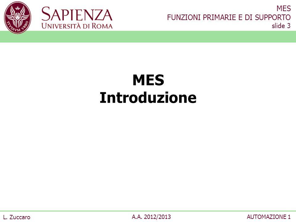 MES Introduzione