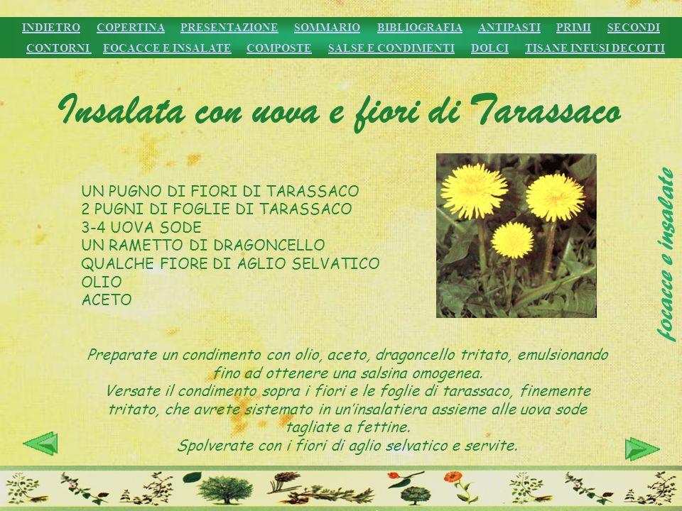 Insalata con uova e fiori di Tarassaco
