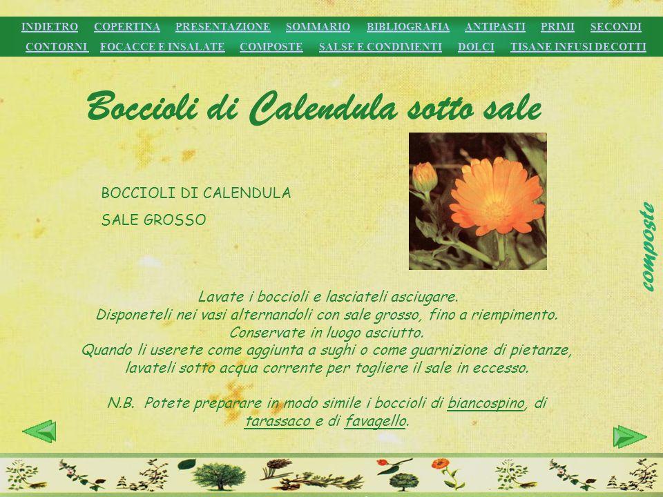 Boccioli di Calendula sotto sale