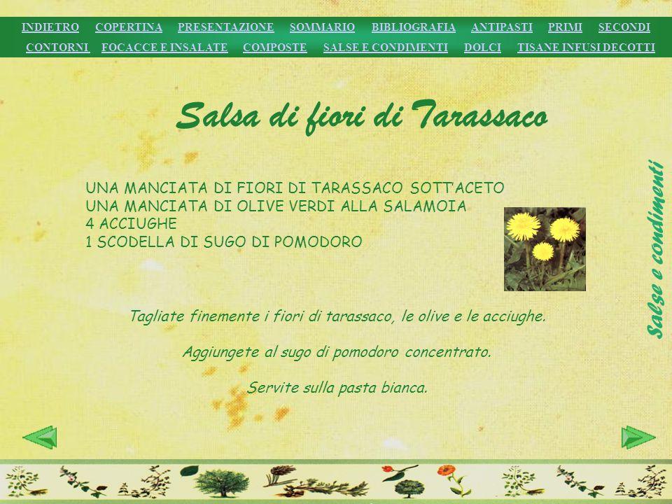 Salsa di fiori di Tarassaco