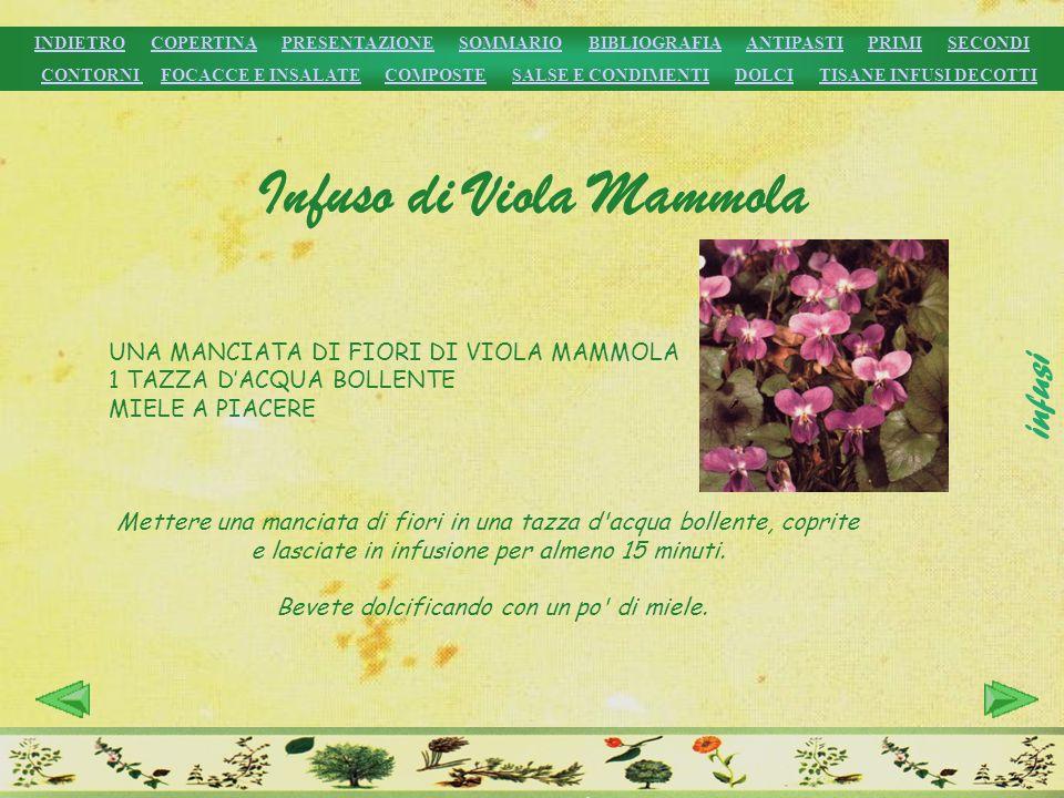 Infuso di Viola Mammola