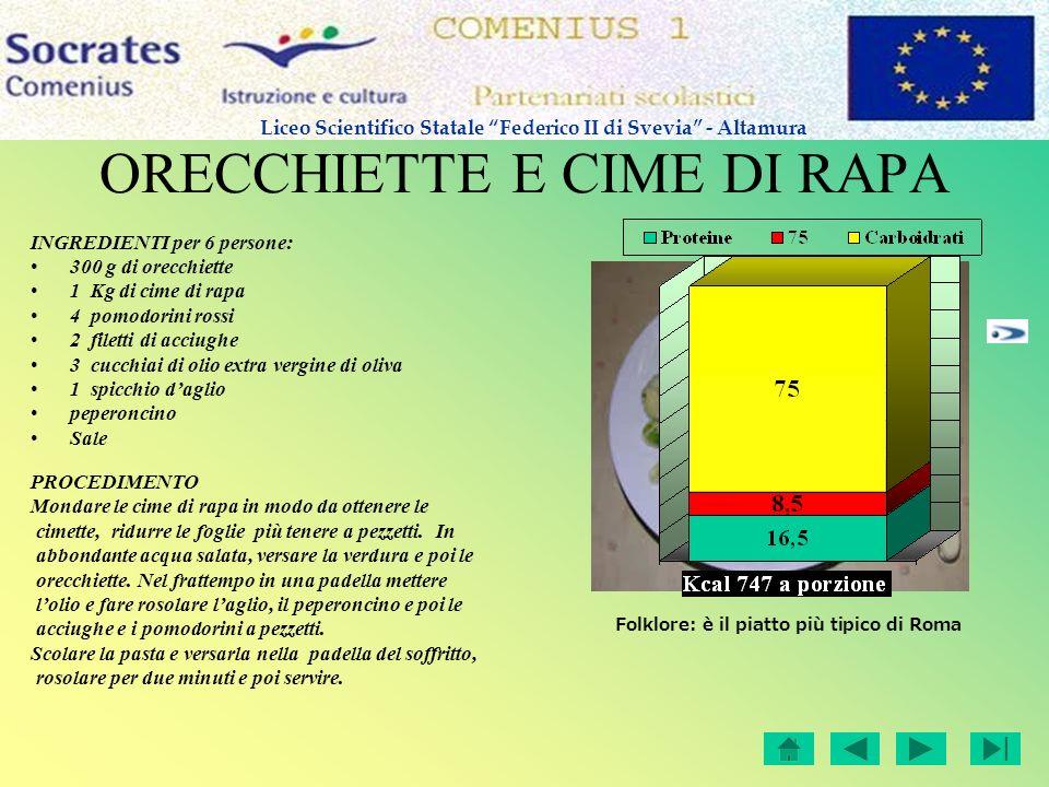 ORECCHIETTE E CIME DI RAPA