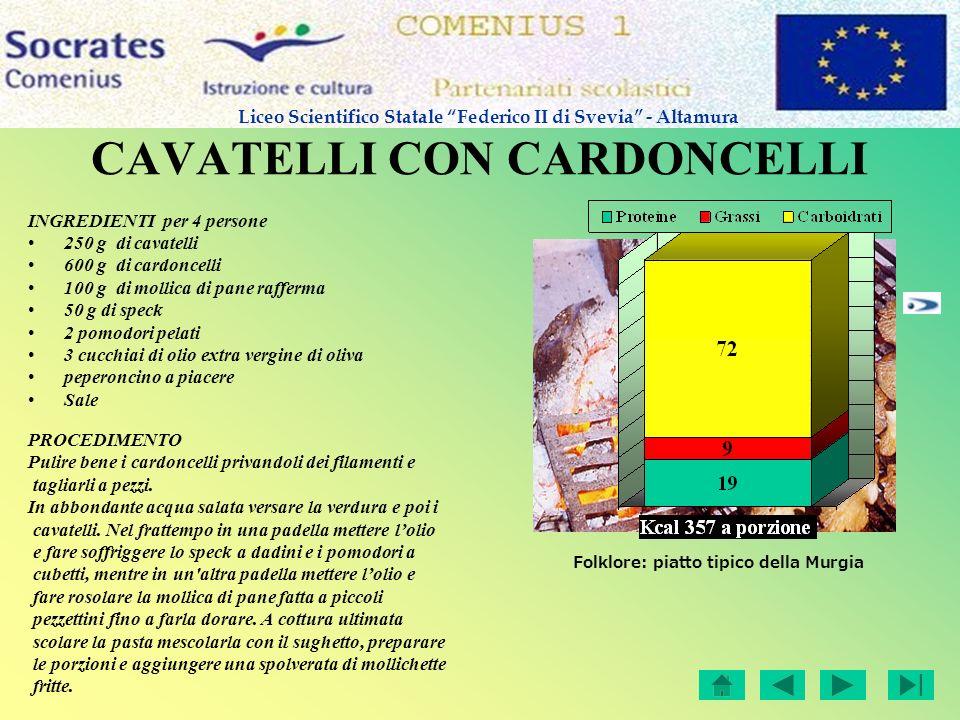 CAVATELLI CON CARDONCELLI