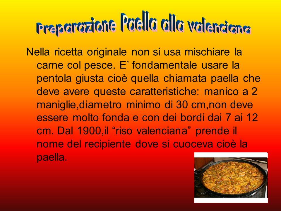 Preparazione Paella alla valenciana