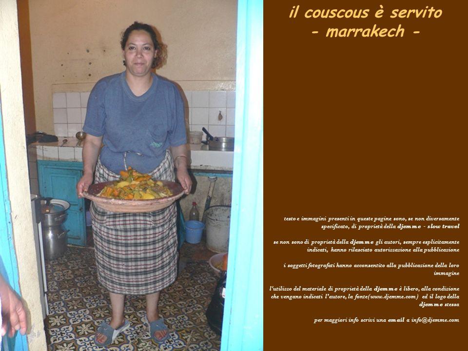 il couscous è servito - marrakech -