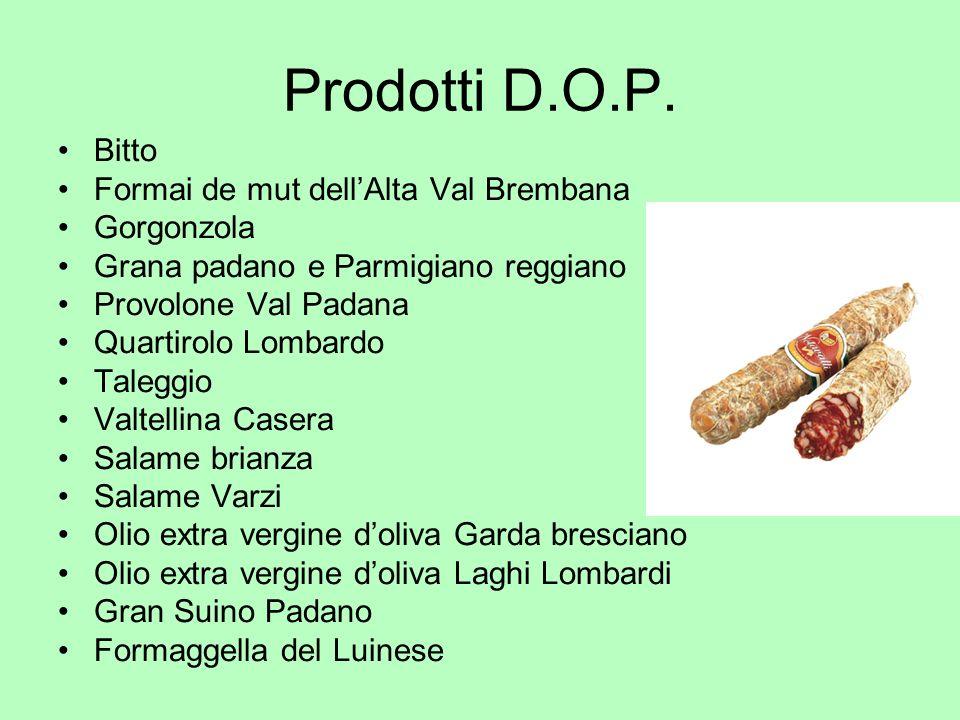 Prodotti D.O.P. Bitto Formai de mut dell'Alta Val Brembana Gorgonzola