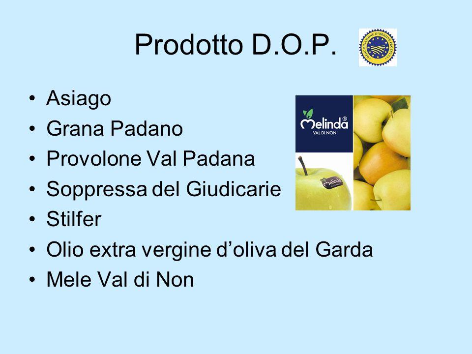 Prodotto D.O.P. Asiago Grana Padano Provolone Val Padana