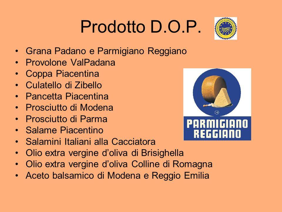 Prodotto D.O.P. Grana Padano e Parmigiano Reggiano Provolone ValPadana
