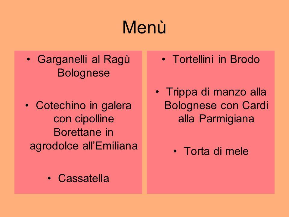 Menù Garganelli al Ragù Bolognese