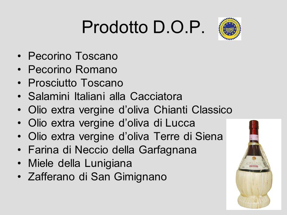Prodotto D.O.P. Pecorino Toscano Pecorino Romano Prosciutto Toscano