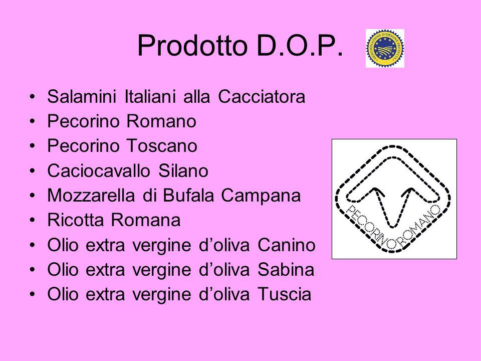 Prodotto D.O.P. Salamini Italiani alla Cacciatora Pecorino Romano