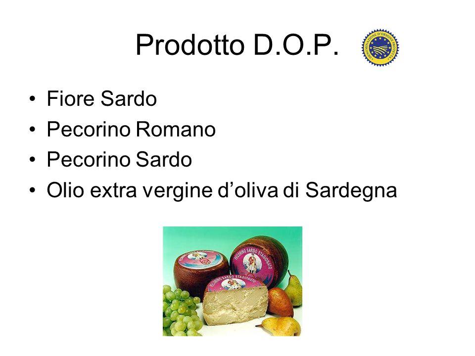 Prodotto D.O.P. Fiore Sardo Pecorino Romano Pecorino Sardo