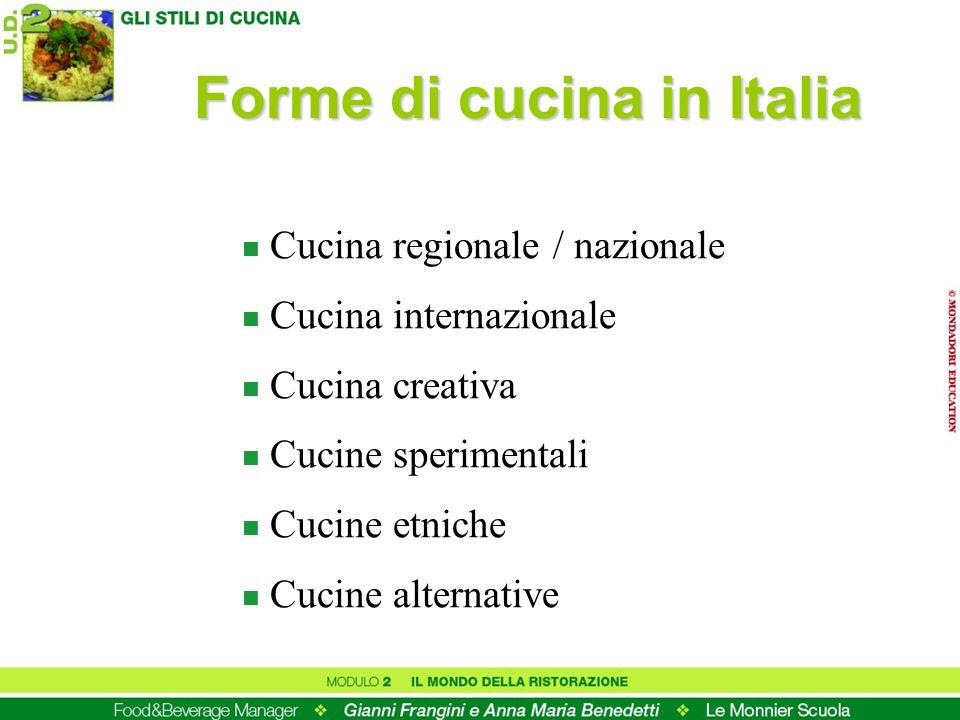 Forme di cucina in Italia
