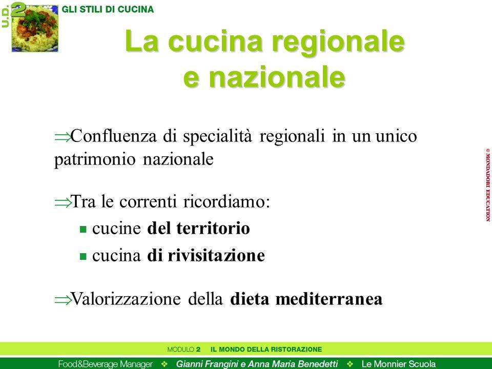 La cucina regionale e nazionale