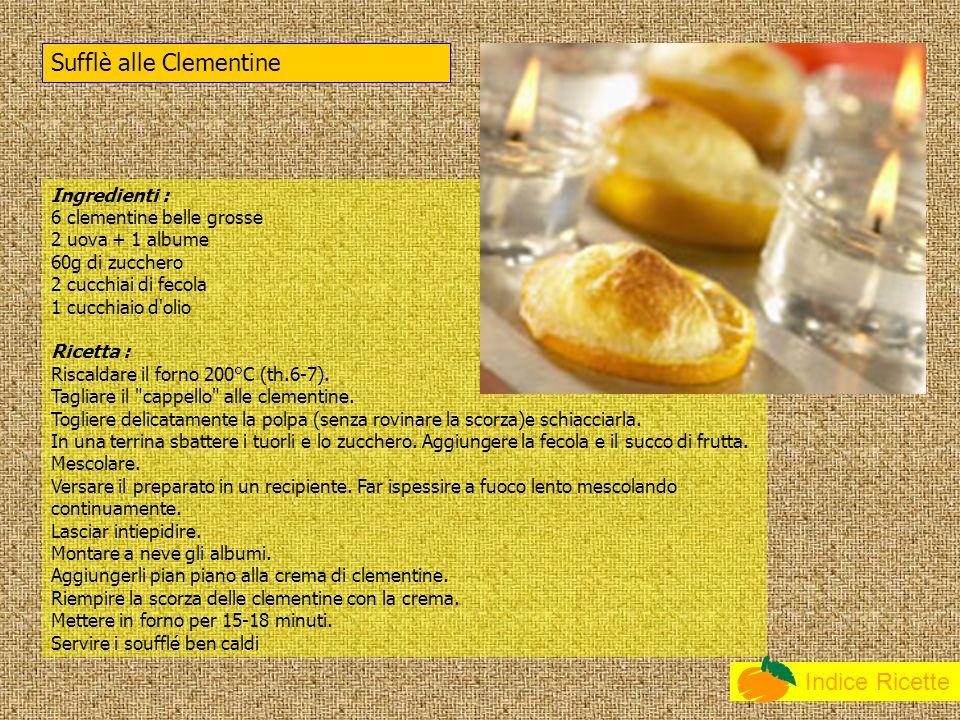 Sufflè alle Clementine