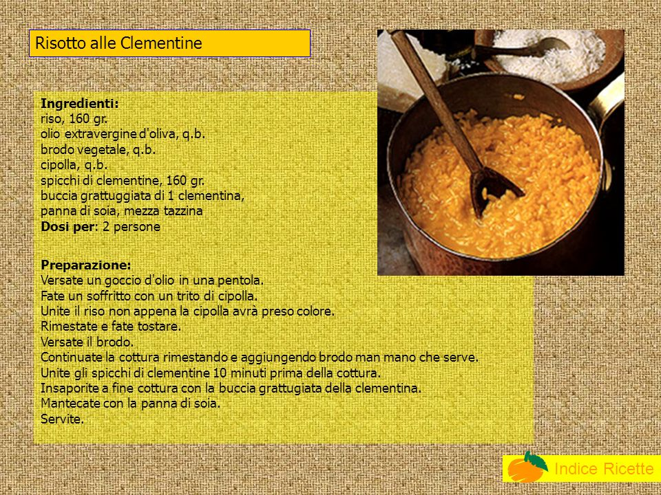 Risotto alle Clementine