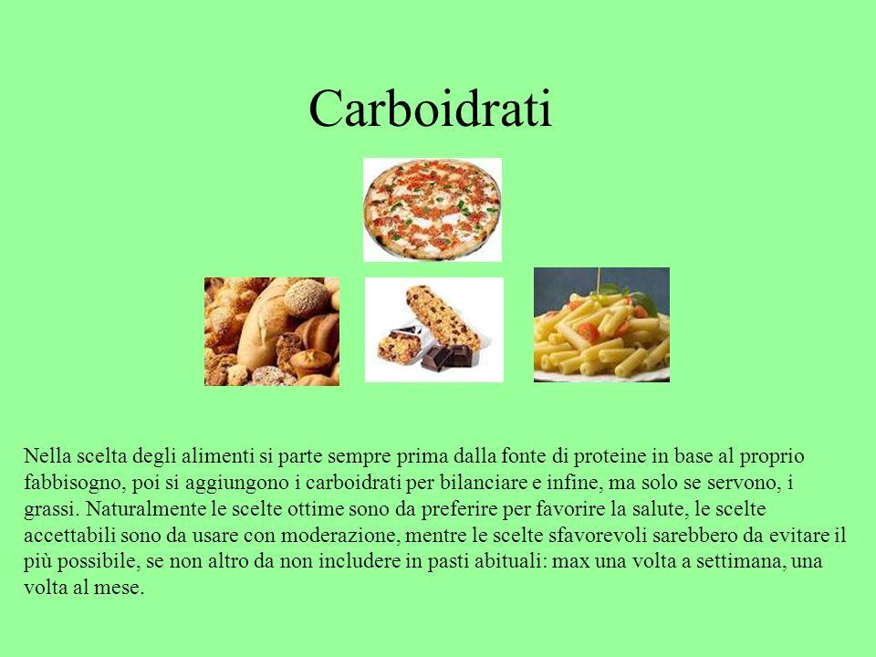 Carboidrati carboidrati, fonti di carboidrati