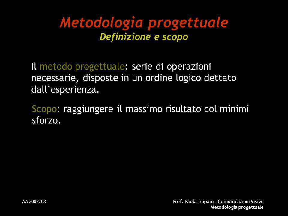 Metodologia progettuale Definizione e scopo