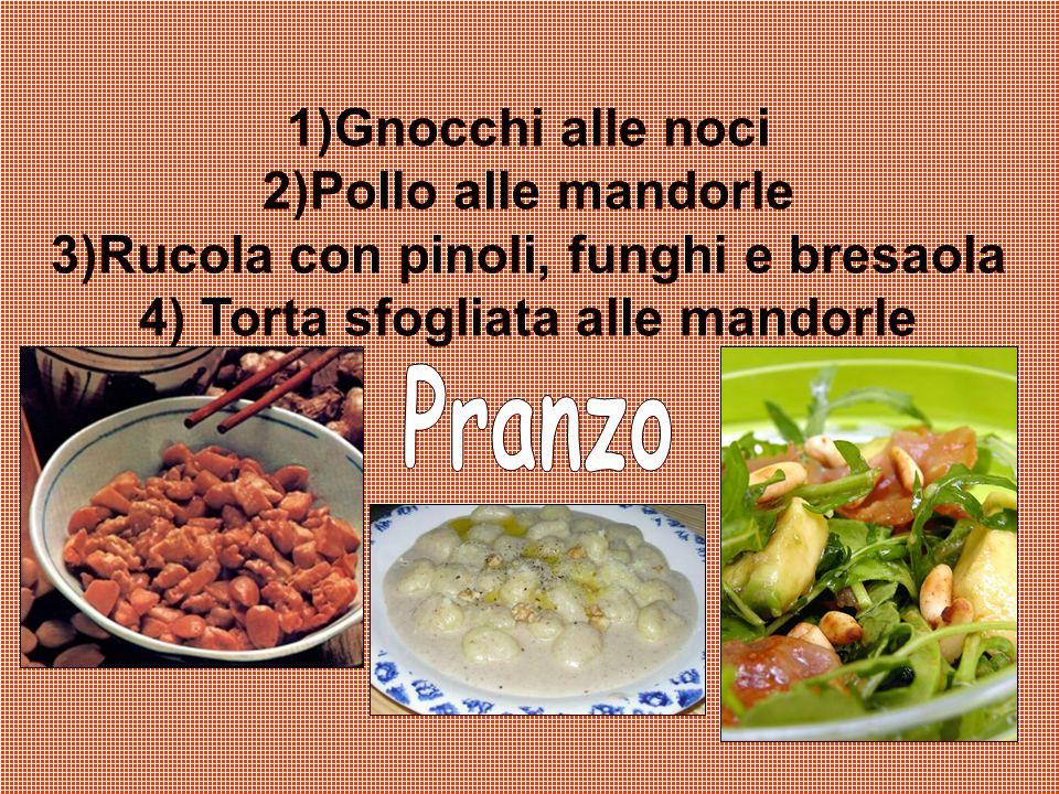 3)Rucola con pinoli, funghi e bresaola