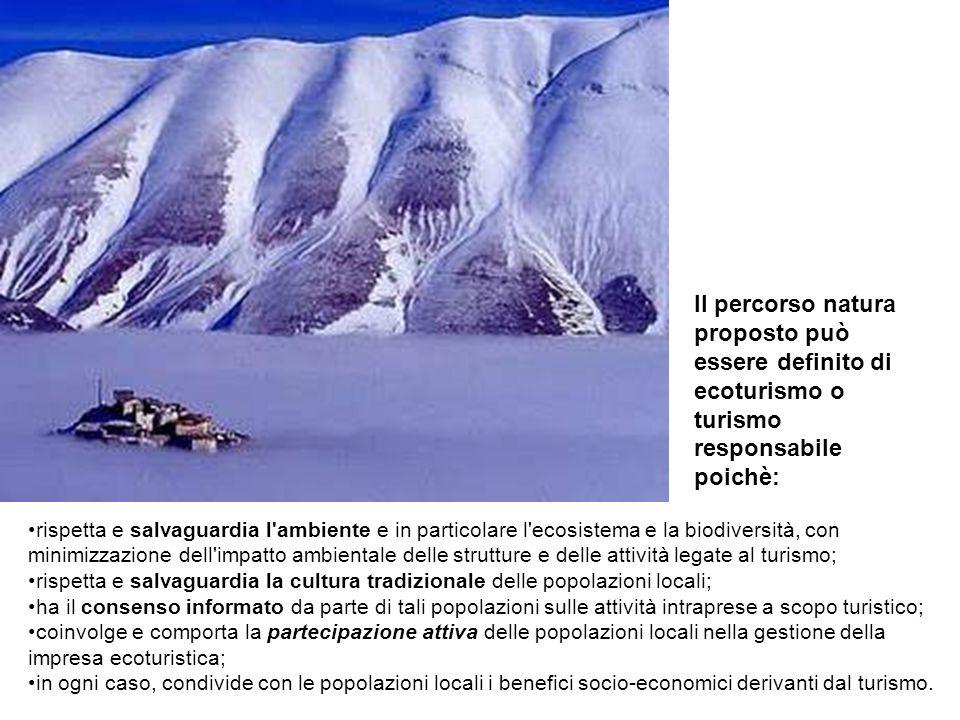 Il percorso natura proposto può essere definito di ecoturismo o turismo responsabile poichè: