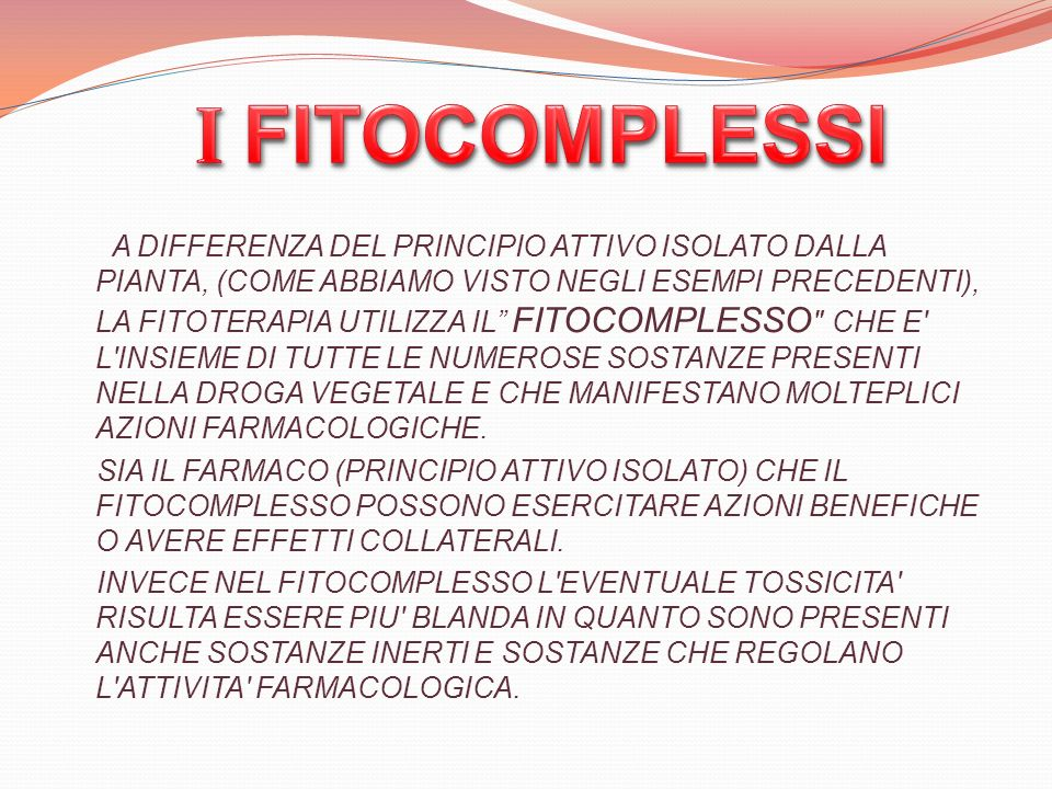 I FITOCOMPLESSI