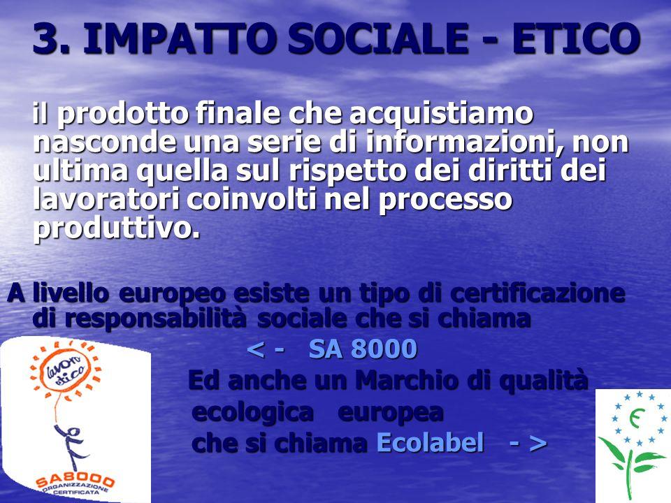 3. IMPATTO SOCIALE - ETICO