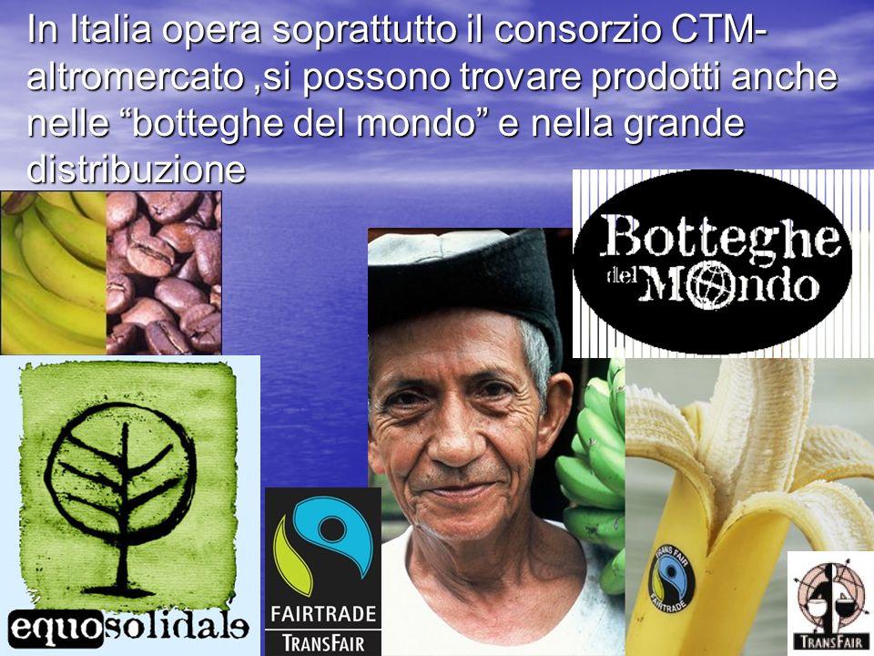 In Italia opera soprattutto il consorzio CTM-altromercato ,si possono trovare prodotti anche nelle botteghe del mondo e nella grande distribuzione
