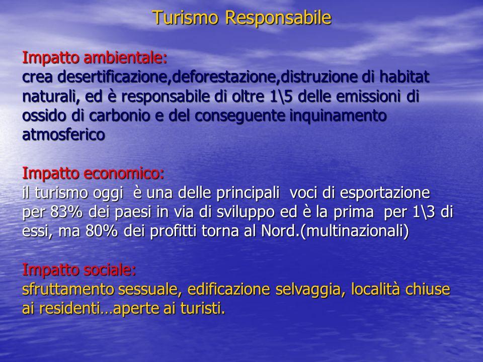 Turismo Responsabile Impatto ambientale: