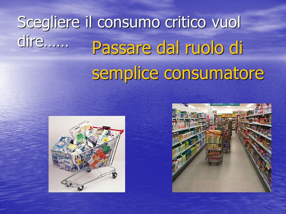 Scegliere il consumo critico vuol dire……