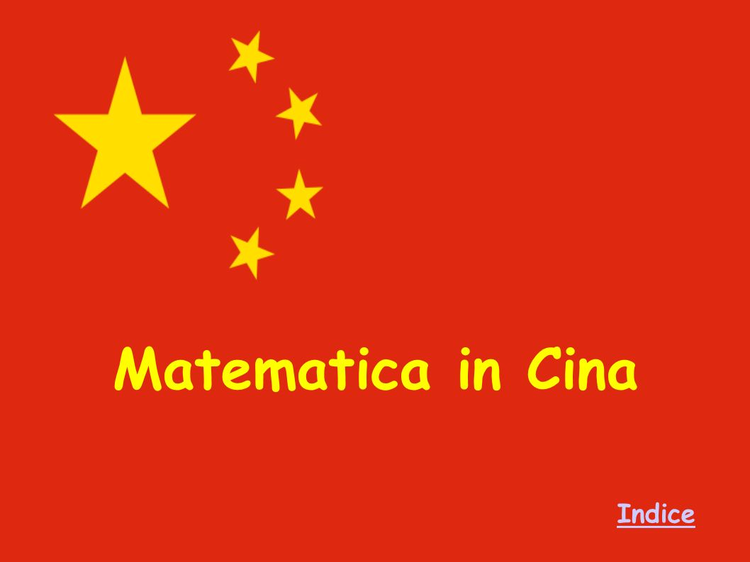 Matematica in Cina Indice
